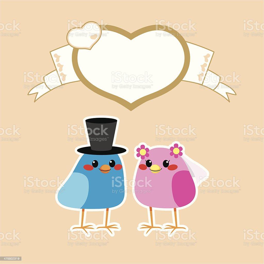Birds Love Wedding royalty-free birds love wedding stock vector art & more images of backgrounds