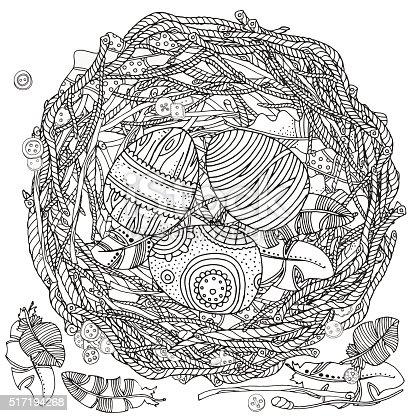 ᐈ Imagen De Nido De Pájaro Y Huevos Semana Santa Huevos