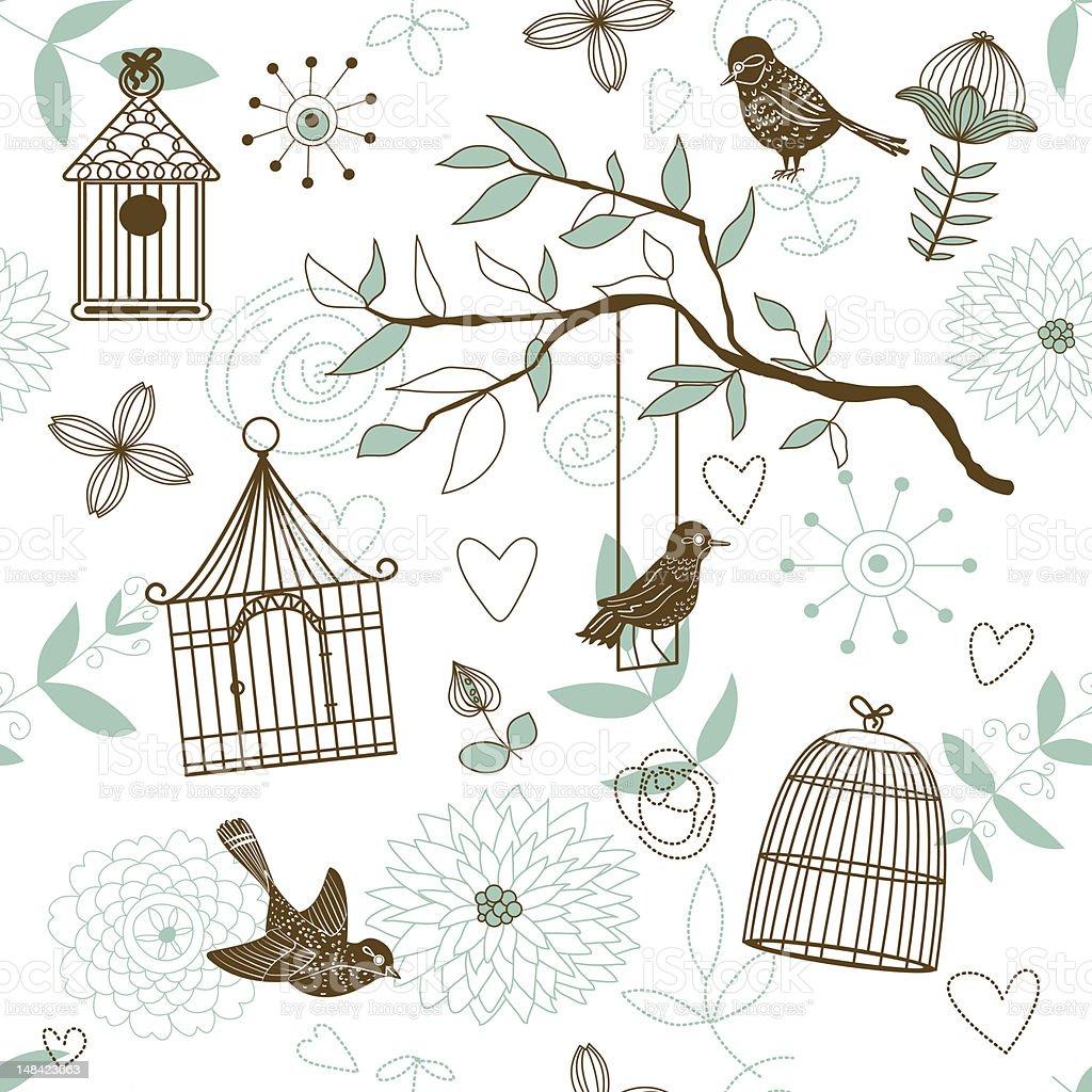 Birds pattern royalty-free stock vector art