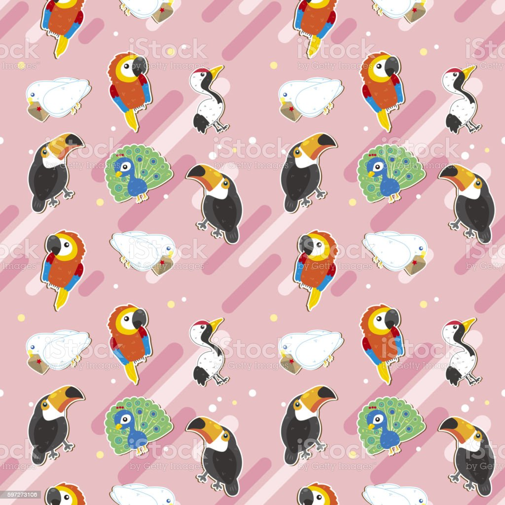 Birds seamless pattern design Lizenzfreies birds seamless pattern design stock vektor art und mehr bilder von abstrakt