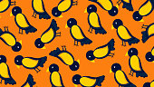 Birds seamless pattern for cloths background