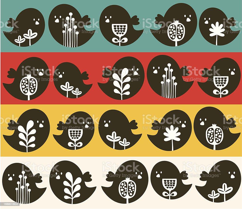 Birds seamless pattern. royalty-free stock vector art