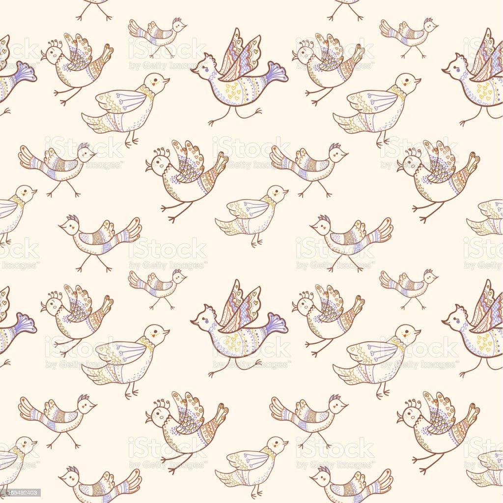 birds seamless royalty-free stock vector art