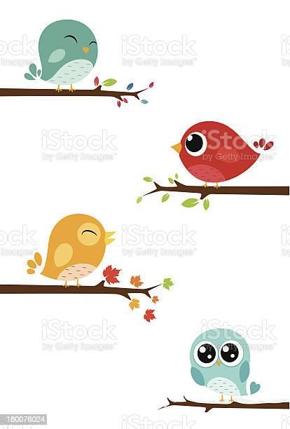 Birds sitting on branches vector id180076024?b=1&k=6&m=180076024&s=612x612&h=yomlfmkl16jcwjdgnnncbw0i0ofklobnky2u0rrw vm=