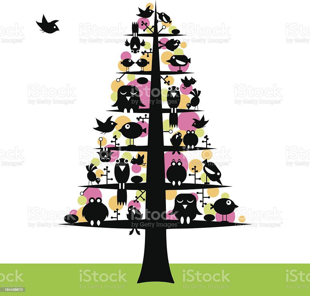 Birds tree royalty-free stock vector art