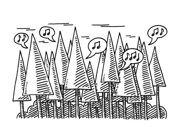 鳥語花香森林繪圖中 - twitter 幅插畫檔、美工圖案、卡通及圖標