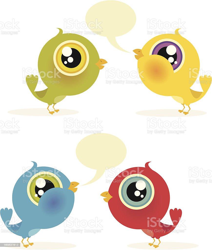 Birds Twittering royalty-free stock vector art