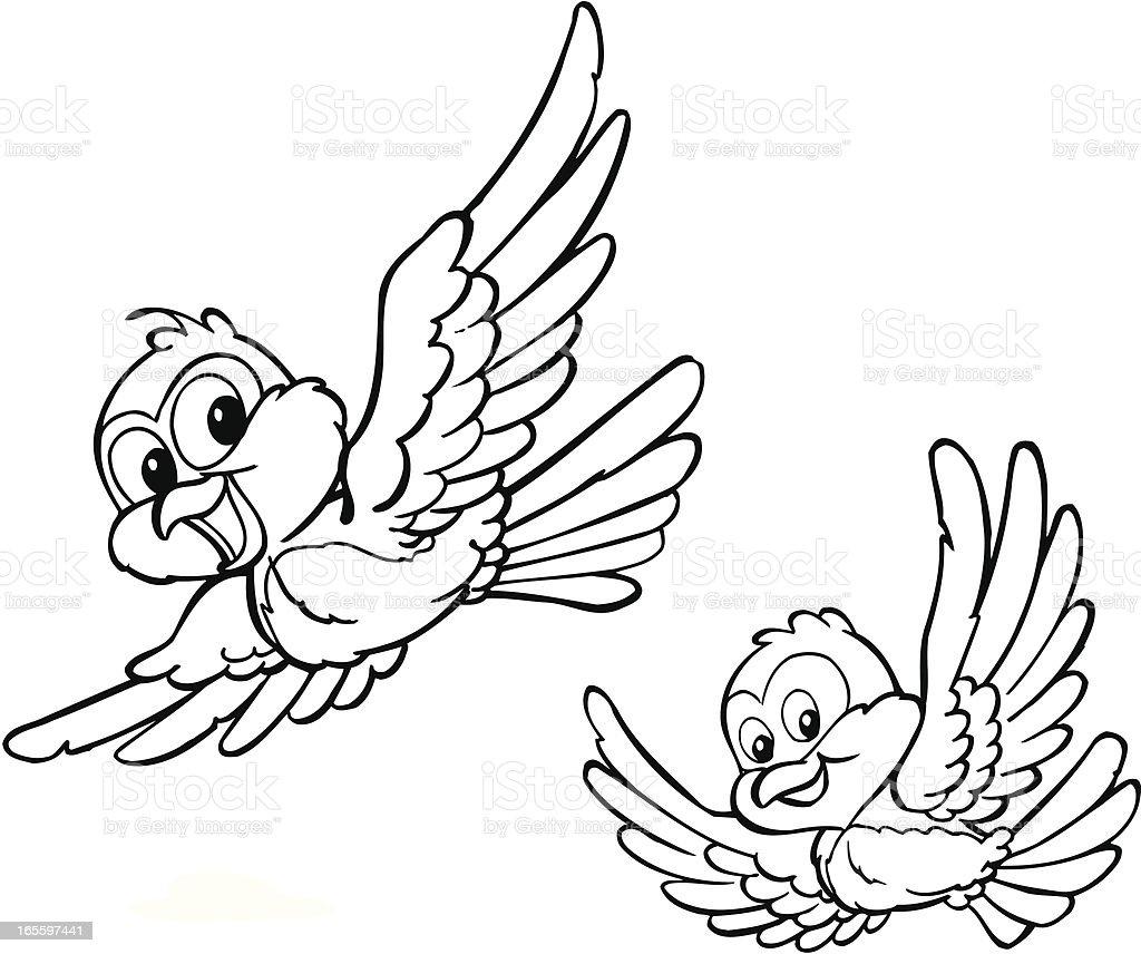 Pájaros ilustración de pájaros y más banco de imágenes de animal libre de derechos