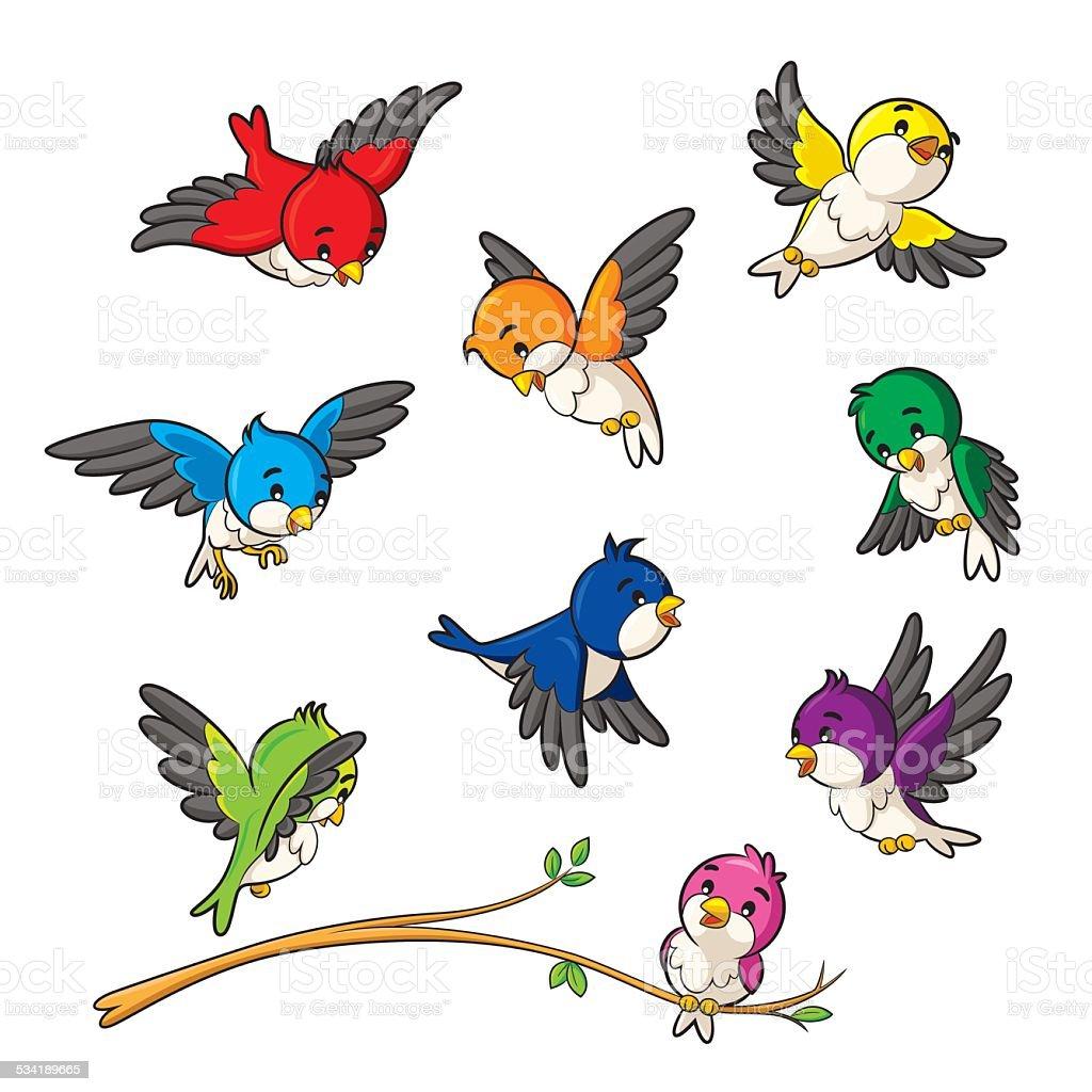 Ptaki - Grafika wektorowa royalty-free (2015)