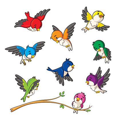 Birds — стоковая векторная графика и другие изображения на тему 2015