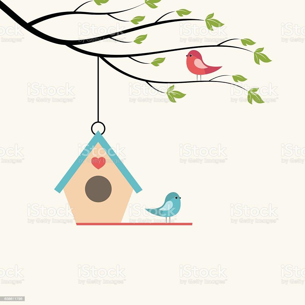 Birds. vector art illustration