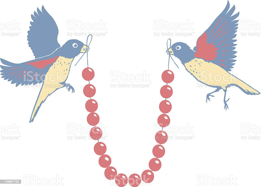 Birds with necklace royalty-free birds with necklace stock vector art & more images of bead