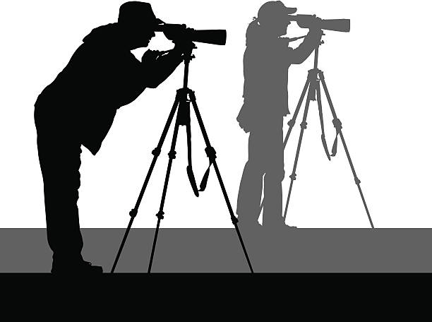 birdwatchers - bird watching stock illustrations, clip art, cartoons, & icons