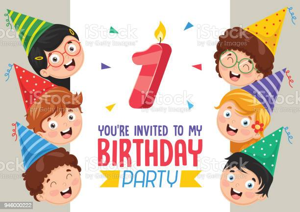 1st Birthday Invitation Card Free Vector Art 22 Free