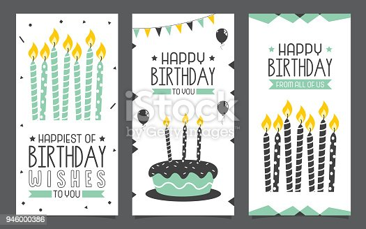 istock Birhday Invitation Card Design 946000386