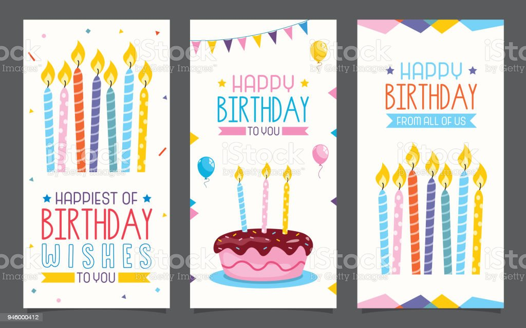 Birhday Invitation Card Design vector art illustration