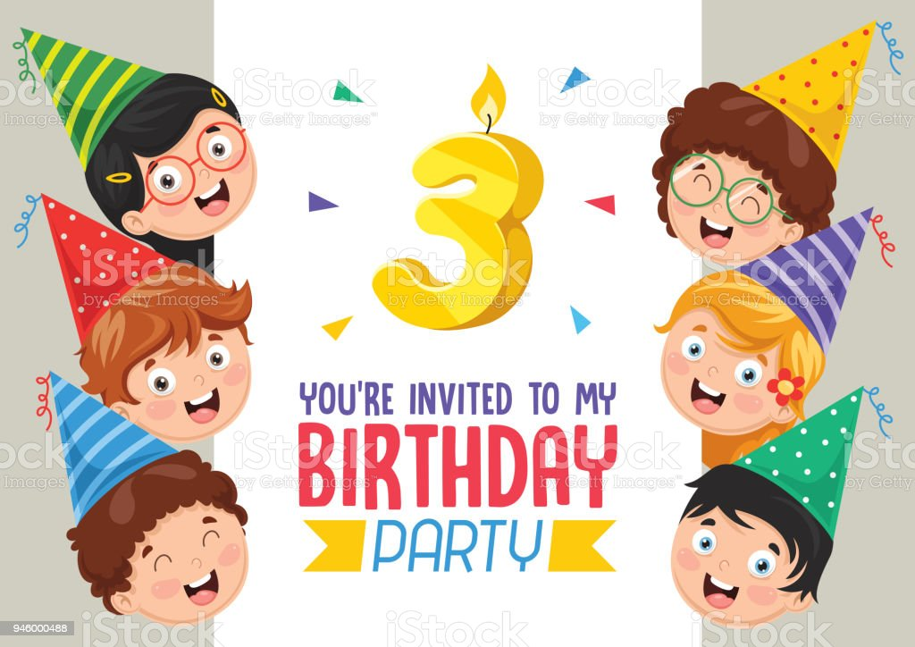 Birhday Invitation Card Design Stock Illustration Download