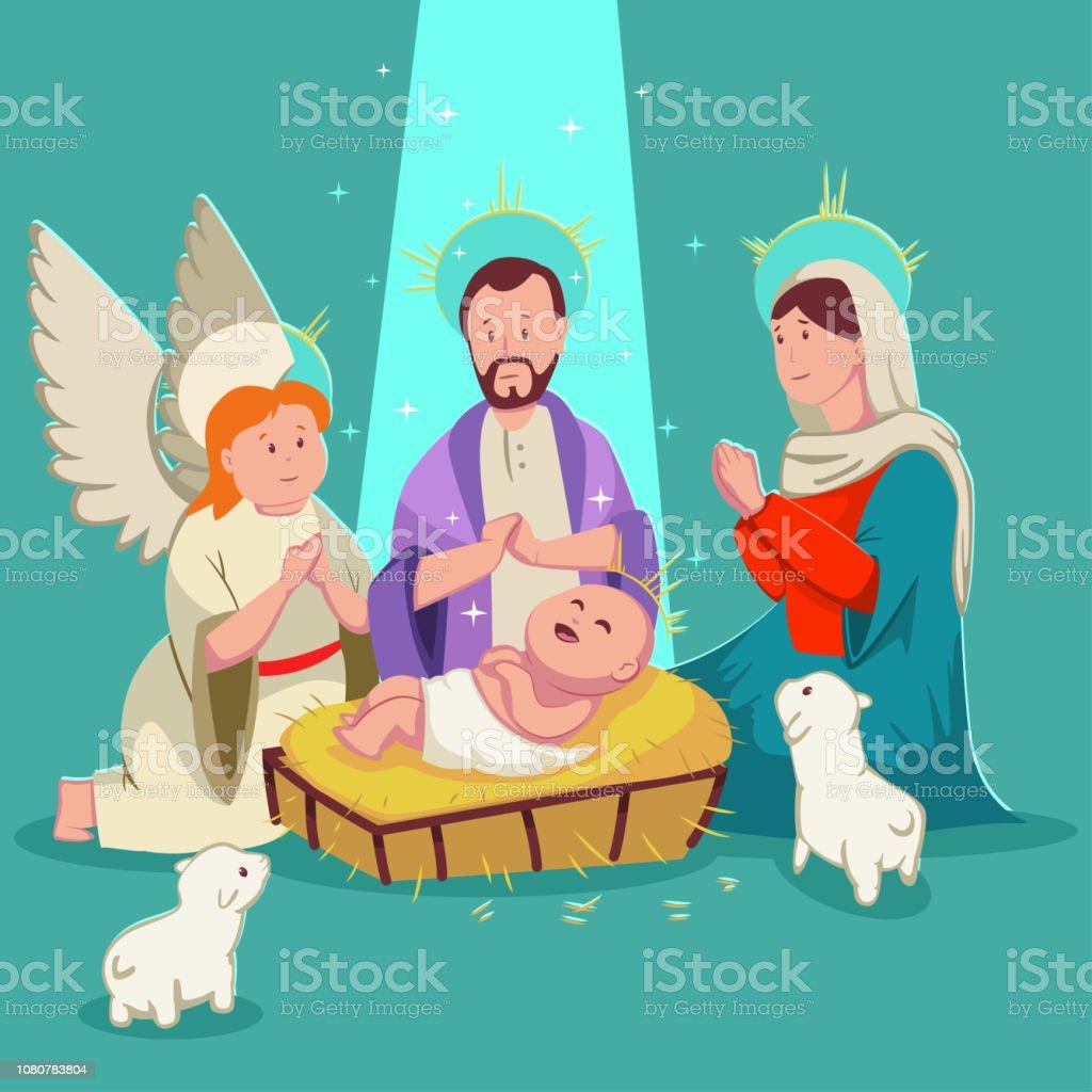 Bébé Naissance Crèche De Jésus Christmas Illustration De Dessin