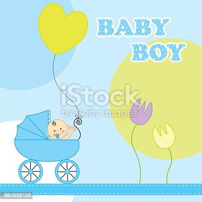 istock Birth Card 664998158