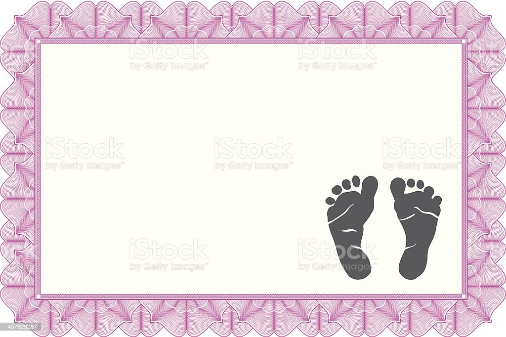 Birth Certificate vector art illustration