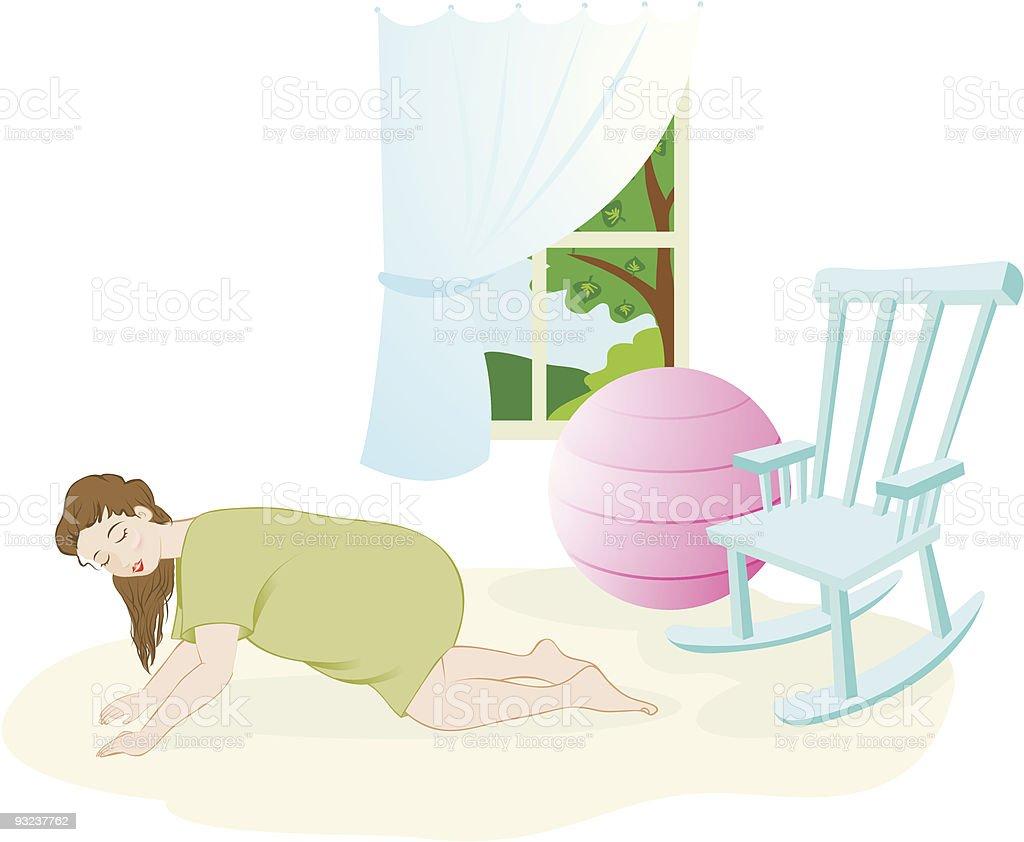 Birth - hands and knees vector art illustration