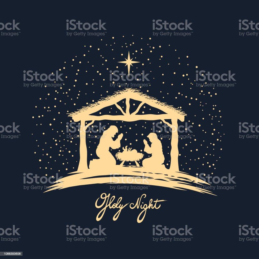 Naissance du Christ - clipart vectoriel de Adulte libre de droits