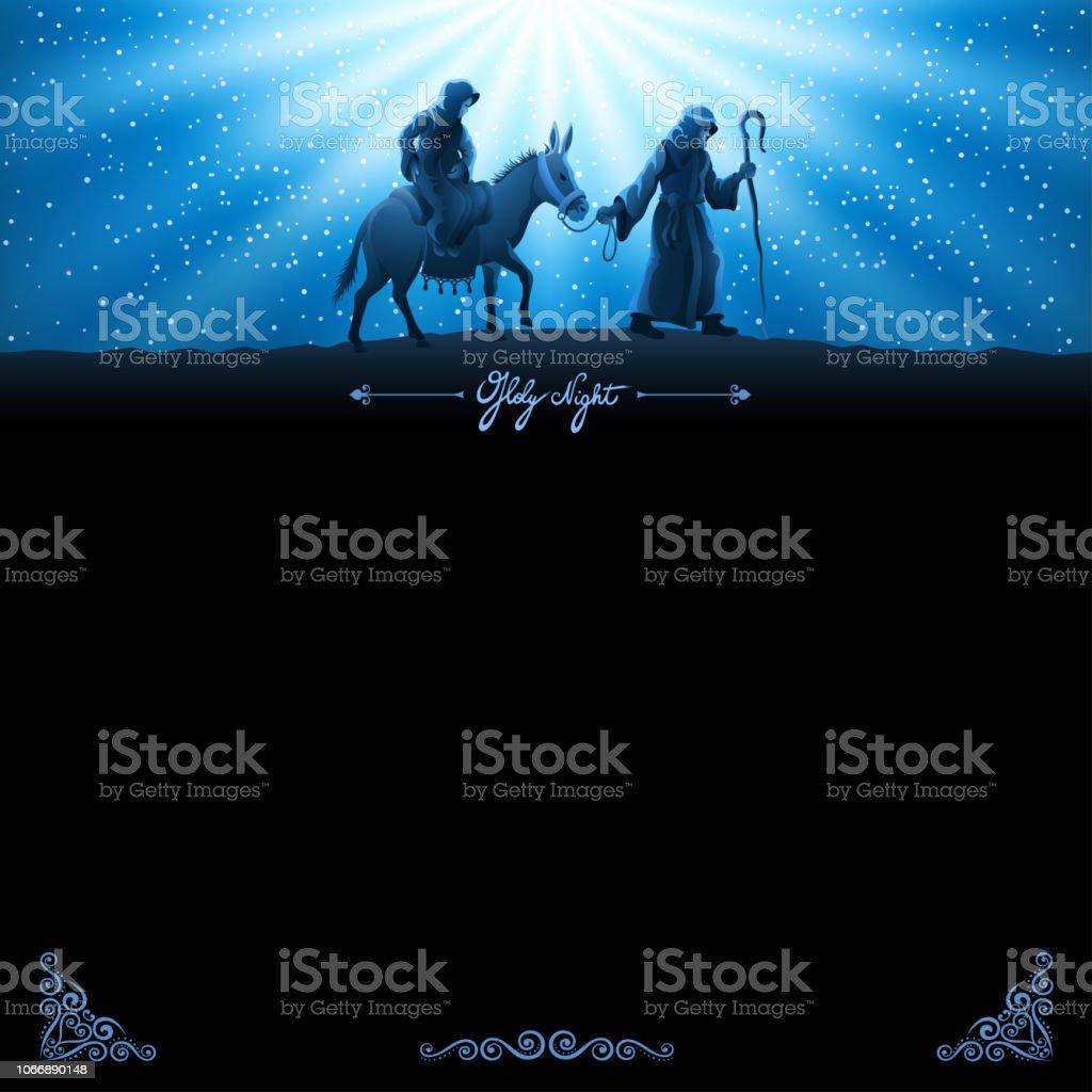 Birth of Jesus vector art illustration