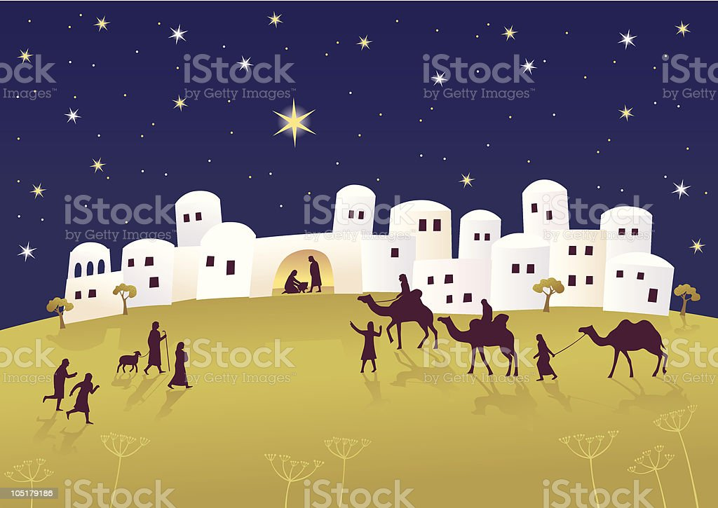 Birth of Messiah royalty-free stock vector art