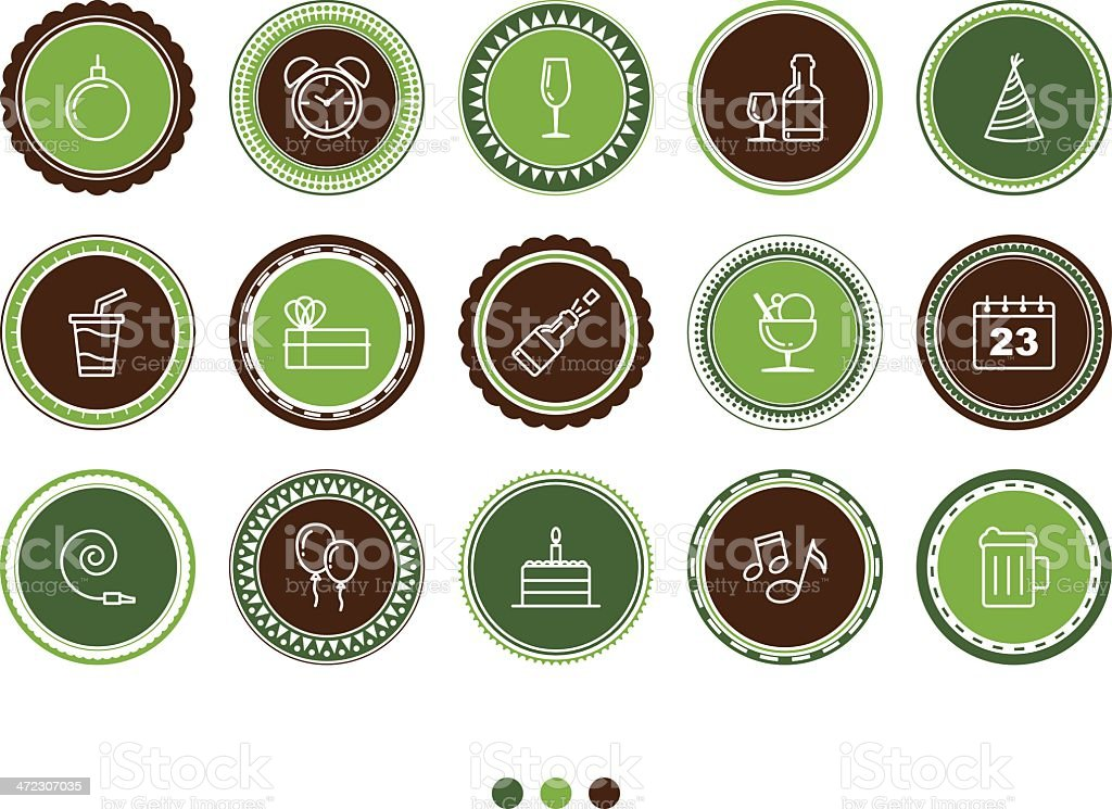 birthday and celebration icons royalty-free stock vector art