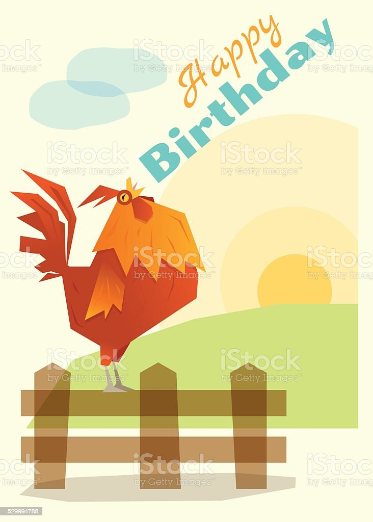 Birthday and invitation card animal background with chicken stock birthday and invitation card animal background with chicken royalty free birthday and invitation card animal stopboris Gallery