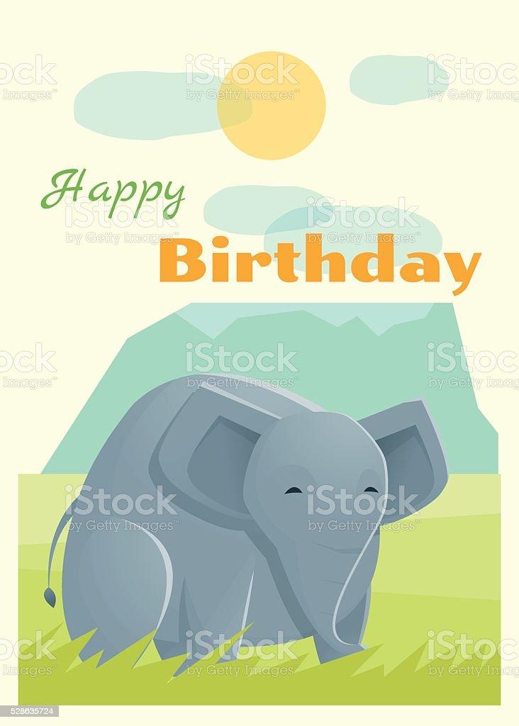 Birthday and invitation card animal background with elephant stock birthday and invitation card animal background with elephant royalty free birthday and invitation card animal stopboris Choice Image