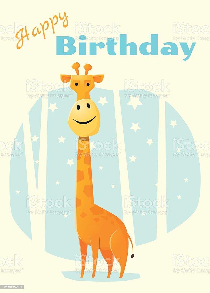 Ilustración De Invitación Tarjeta De Cumpleaños Y Animal