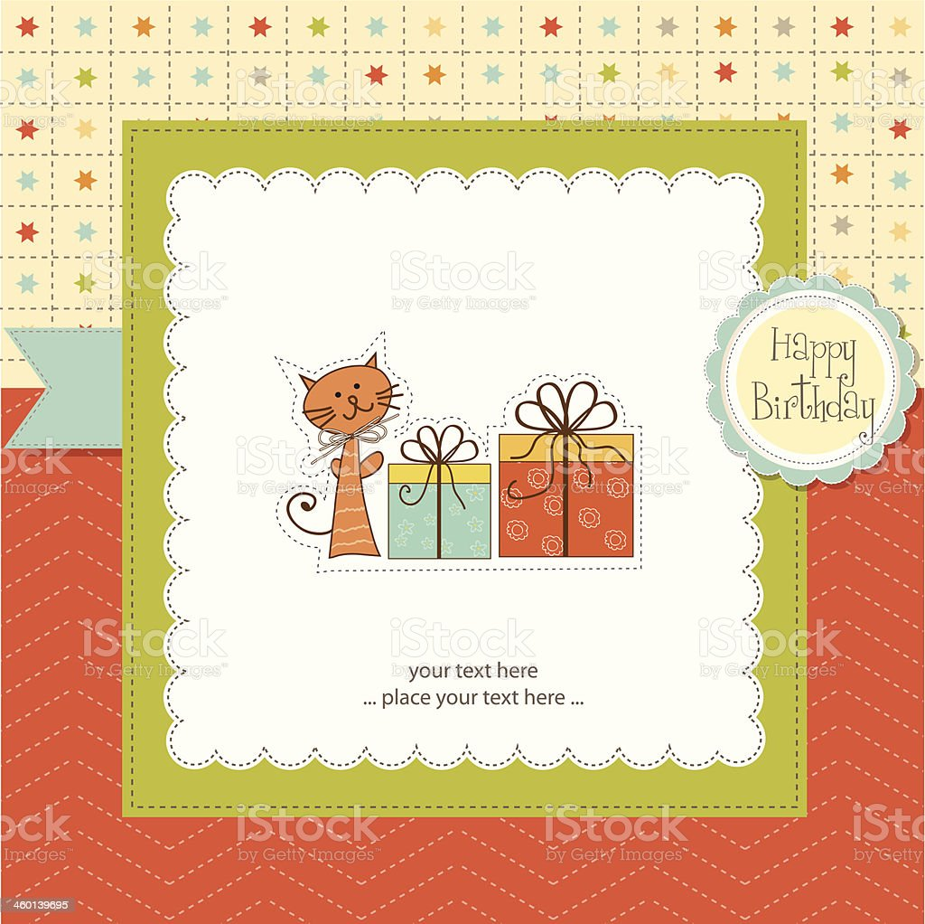 Birthday announcement card vector art illustration
