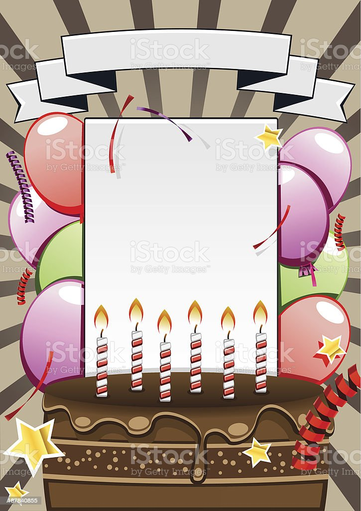 Birthday background royalty-free stock vector art