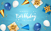 istock Birthday Background with Gifts 1242314238