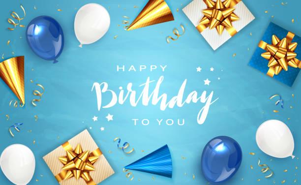 ilustraciones, imágenes clip art, dibujos animados e iconos de stock de antecedentes de cumpleaños con regalos - cumpleaños
