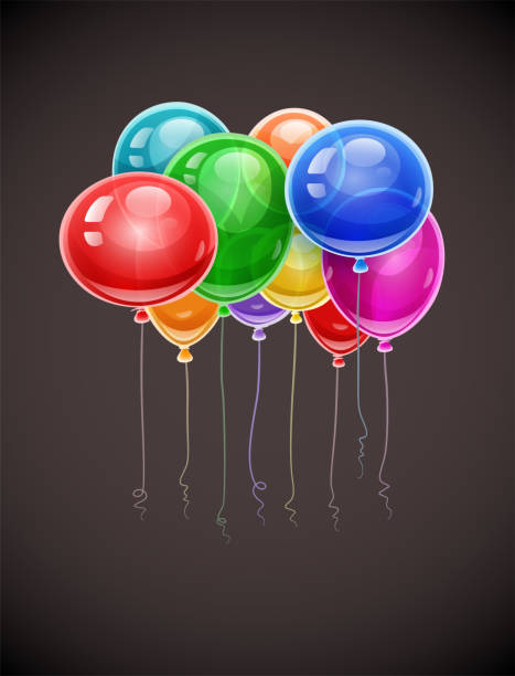 Drawing Of Happy Birthday Balloons Free Clip Art Vector Images Illustrations