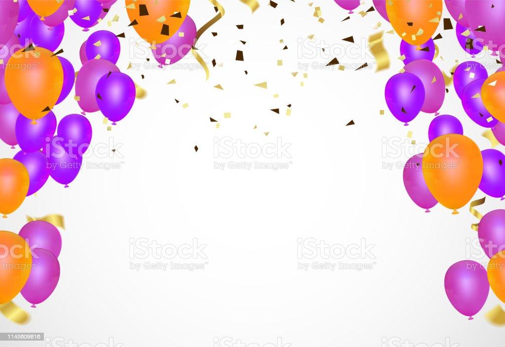 Wonderbaarlijk Verjaardag Ballonnen Sjabloon Luxe Glanzende Kleurrijke Ballonnen XP-66