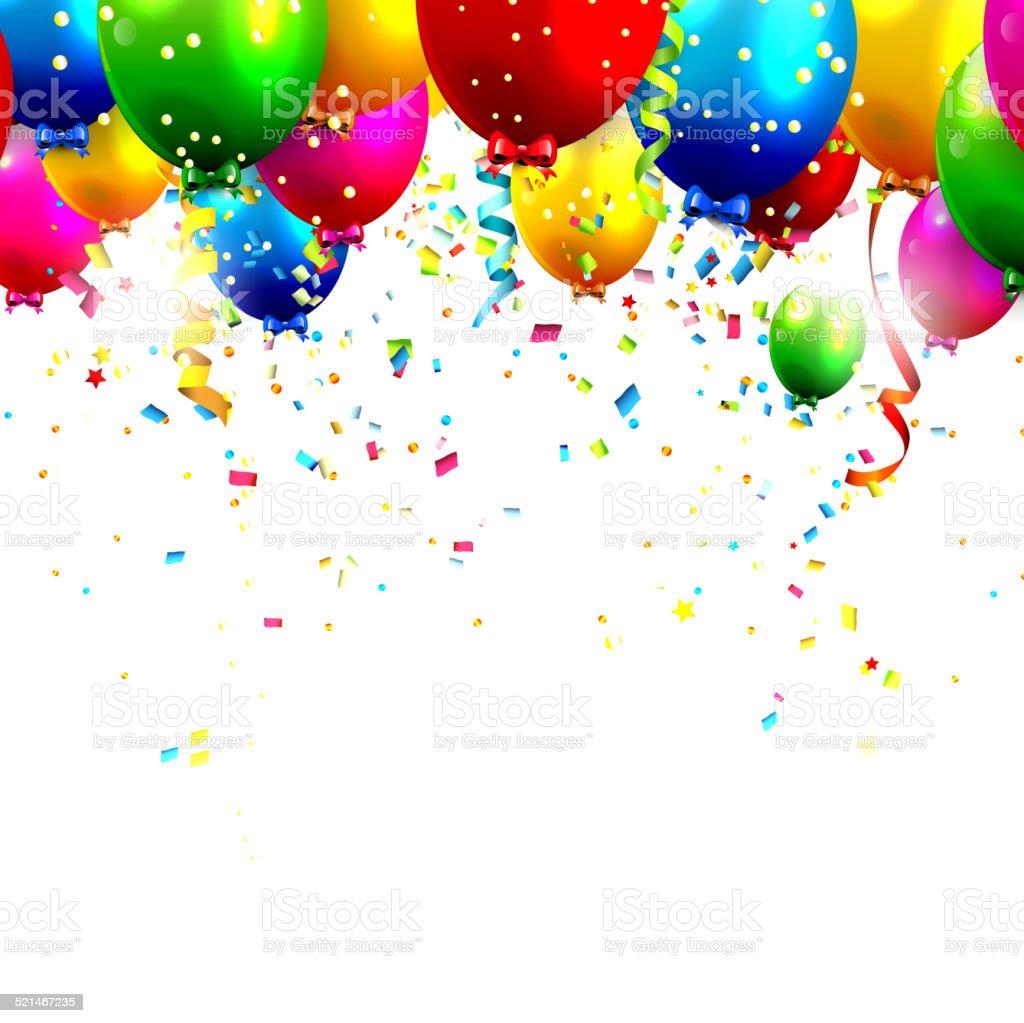 Birthday balloons vector art illustration