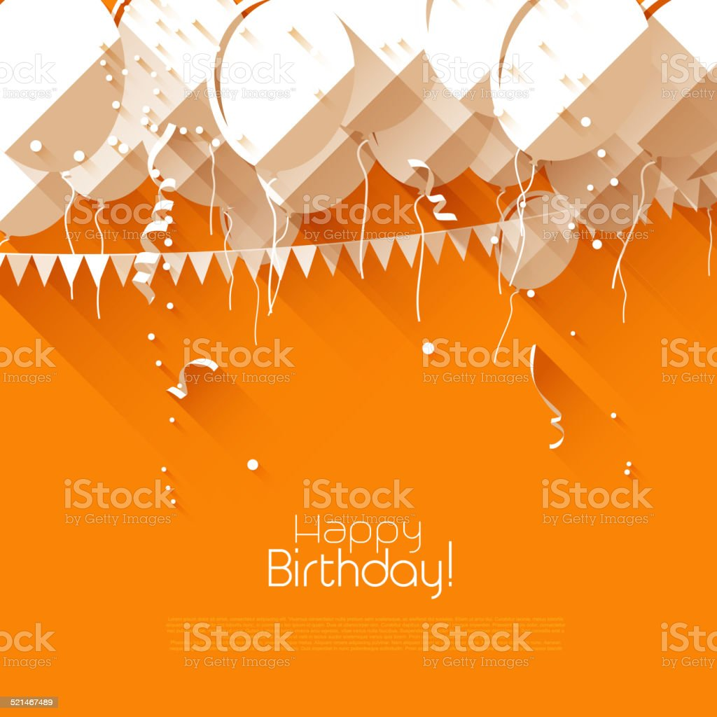 Birthday balloons vector art illustration