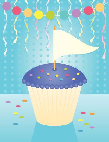 Birthday Banner Cupcake