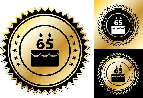 Birthday Cake 65 Years.
