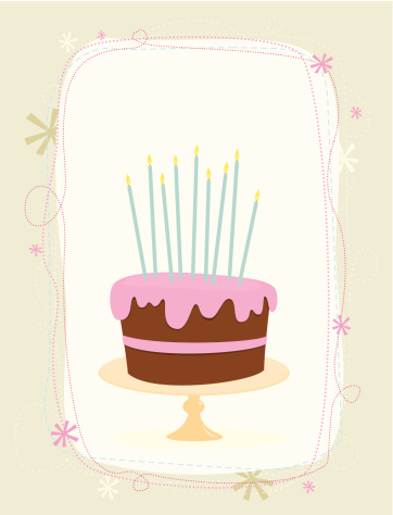 Birthday cake and candles