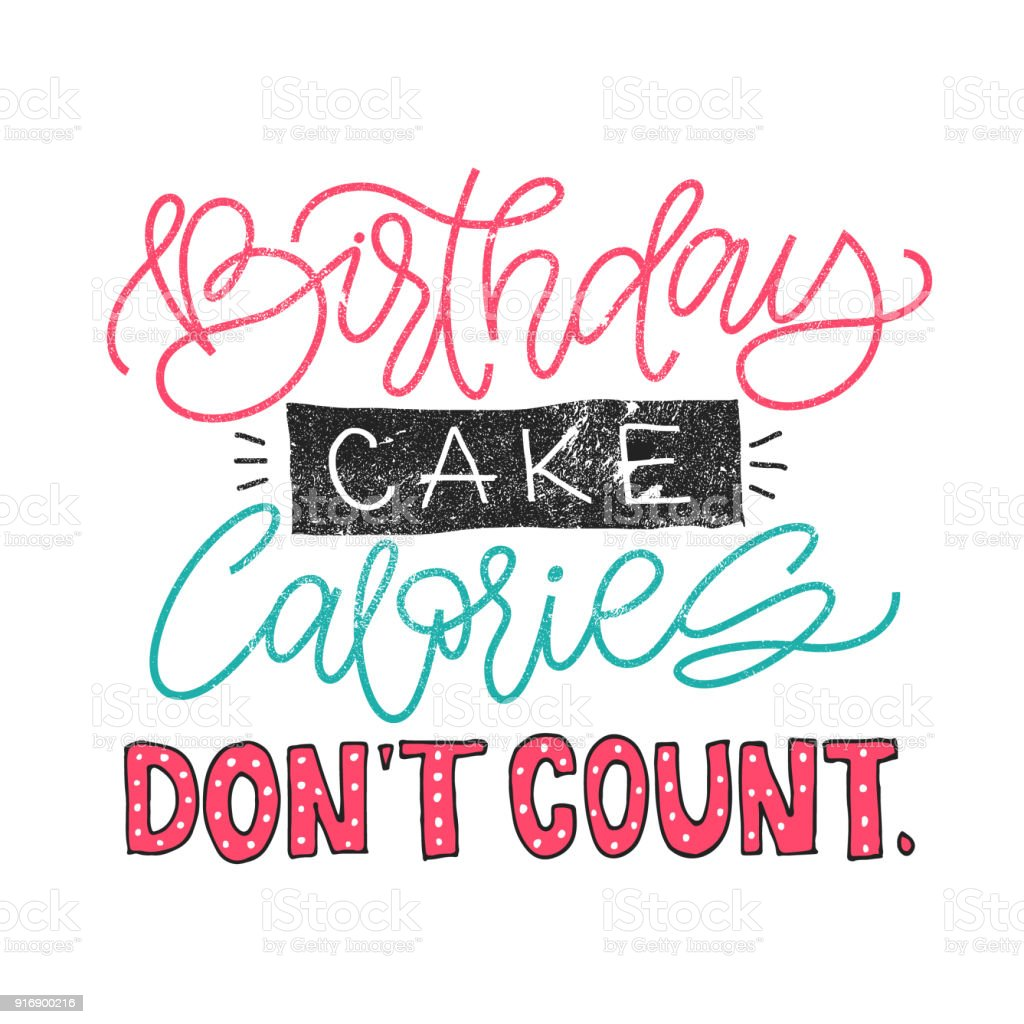 Outstanding Birthday Cake Calories Dont Count Funny Quote About Weight Loose Personalised Birthday Cards Paralily Jamesorg