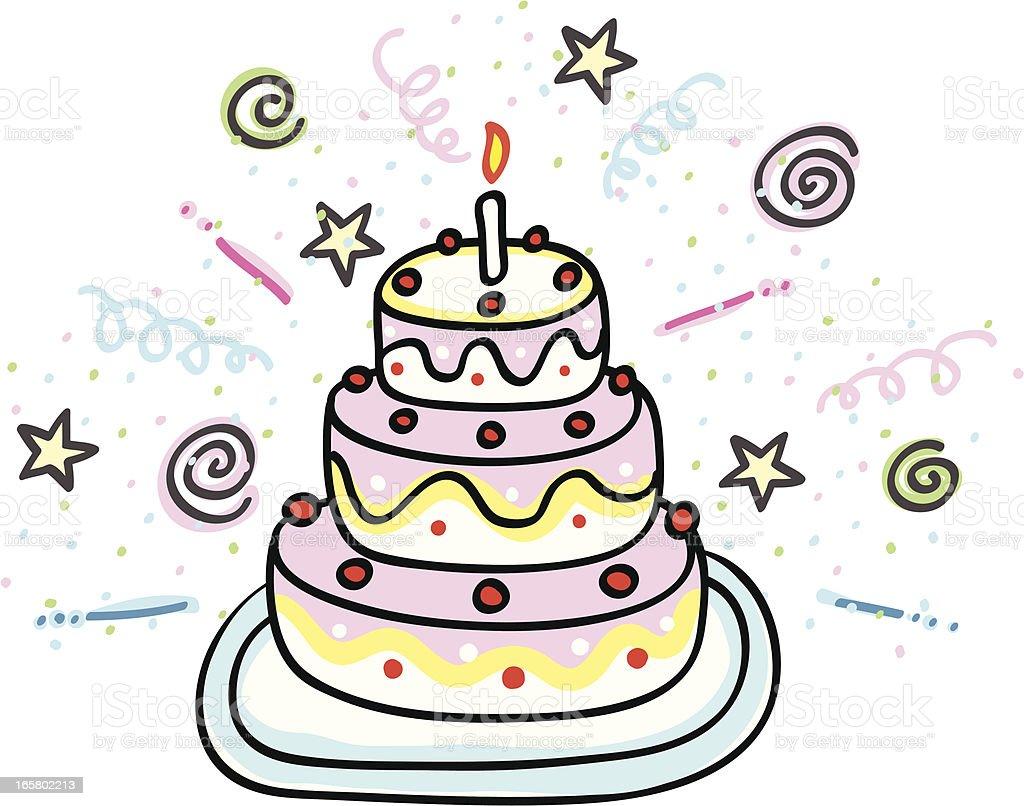 Birthday Cake Cartoon Images Free : Birthday Cake Cartoon Illustration stock vector art ...