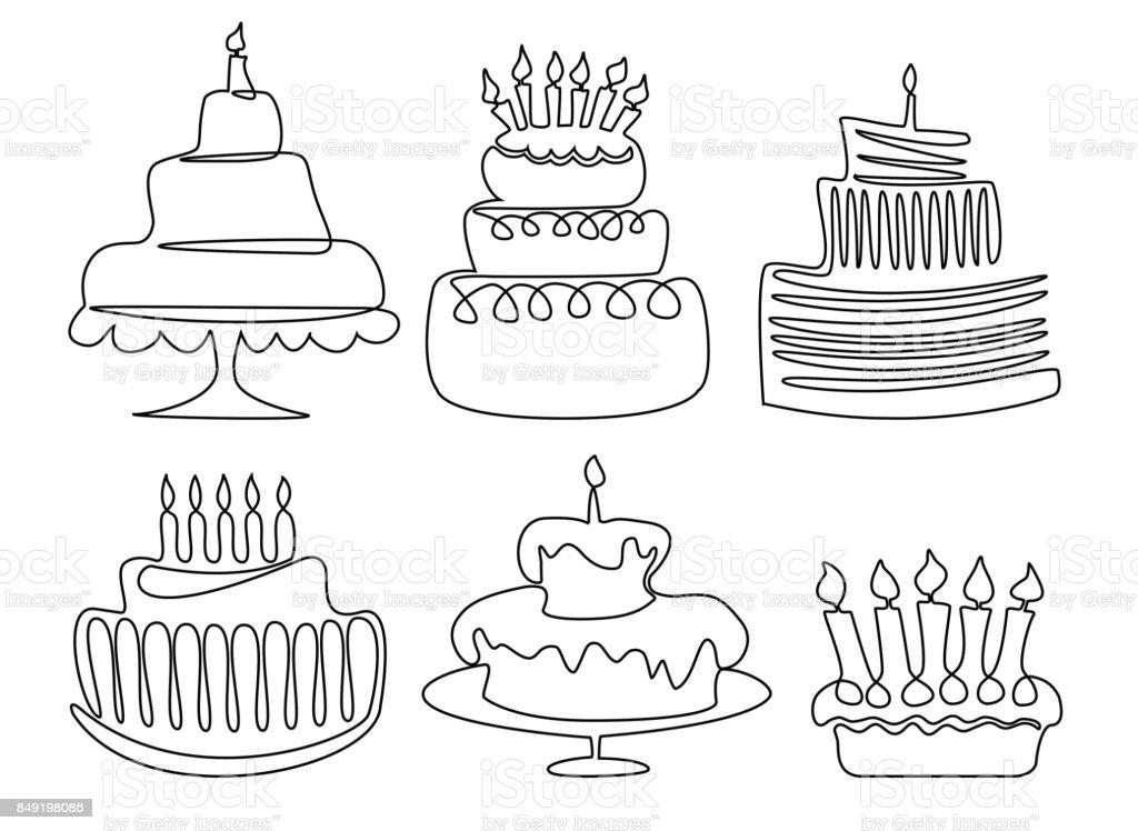 Marvelous Birthday Cake Drawing Stock Illustration Download Image Now Istock Personalised Birthday Cards Vishlily Jamesorg