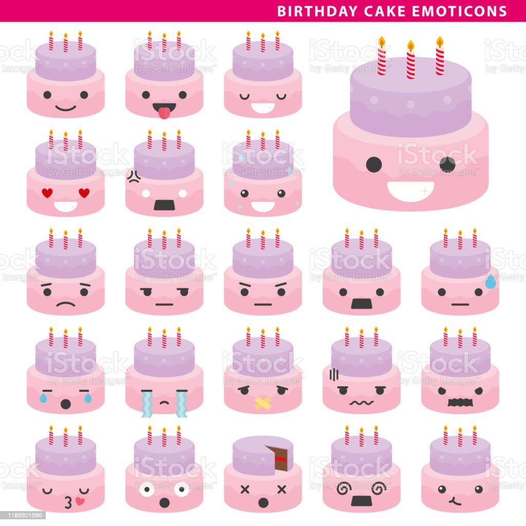 Enjoyable Birthday Cake Emoticons Stock Illustration Download Image Now Funny Birthday Cards Online Unhofree Goldxyz