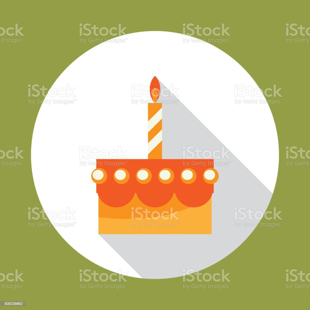 Birthday Cake Flat Vector Icon stock vector art 500225952 iStock