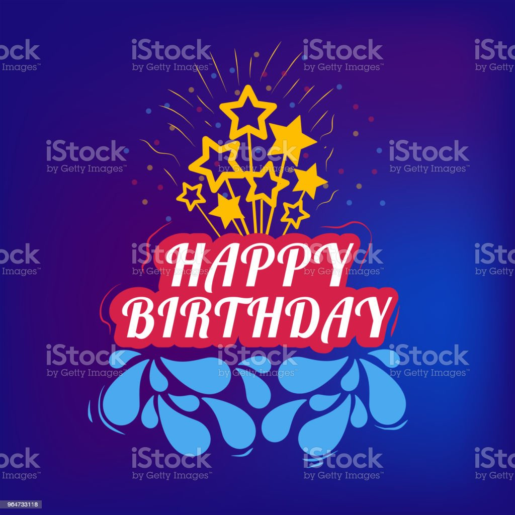 birthday cake from the inscription and stars royalty-free birthday cake from the inscription and stars stock vector art & more images of anniversary