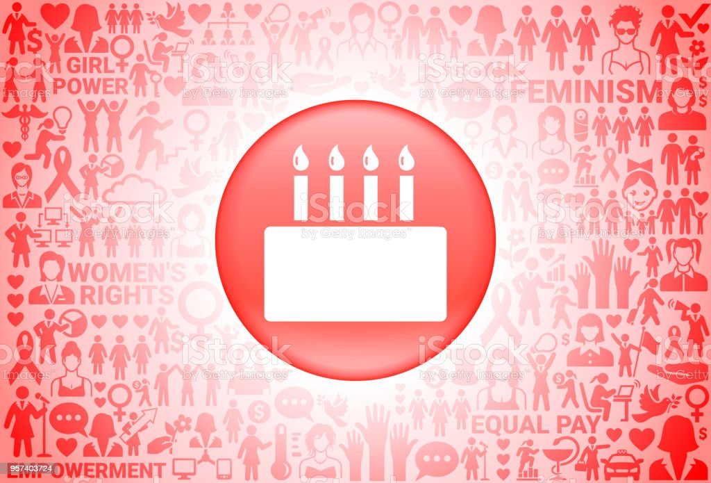 Birthday Cake Girl Power Womens Rights Background Royalty Free